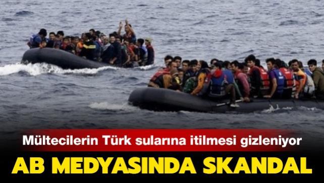 Mültecilerin Türk sularına itildiği, AB medyasında gizleniyor