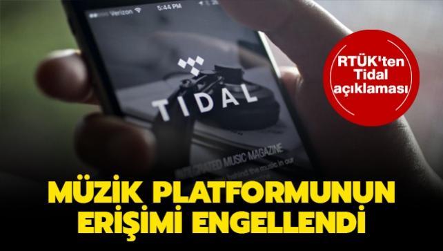 RTÜK'ten Tidal açıklaması: Ünlü müzik platformunun erişimi engellendi