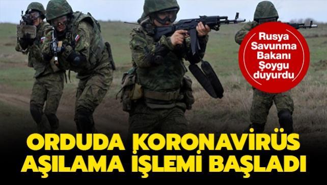 Rusya Savunma Bakanı Şoygu duyurdu: Orduda koronavirüs aşılama işlemi başladı