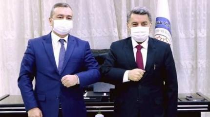 Özbekistan heyetinden terör örgütüne ziyaret