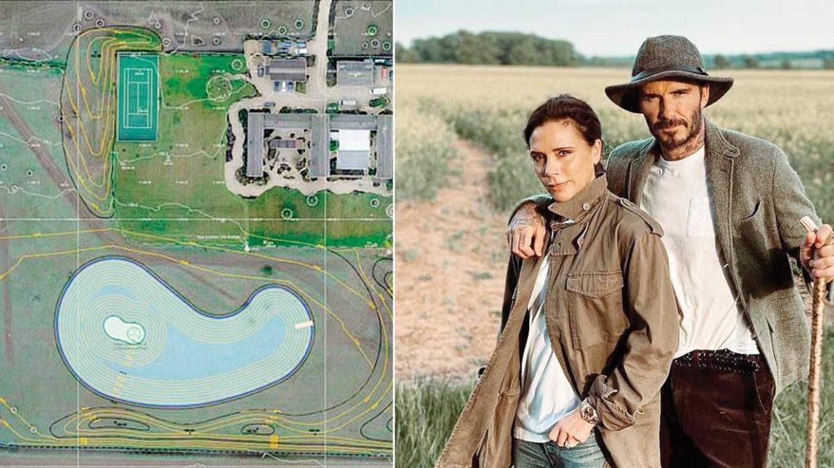 David ve Victoria Beckham çifti gölün ardından evlerine ada yaptırıyor
