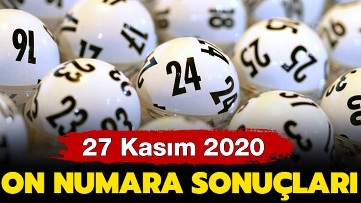 MPİ On Numara sonuçları 27 Kasım 2020