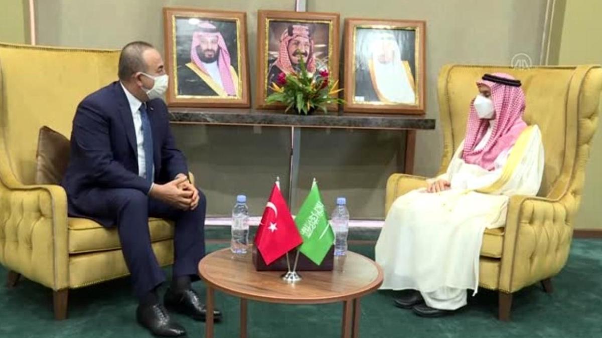 Son dakika: Bakan Çavuşoğlu, Al Saud ile görüştü