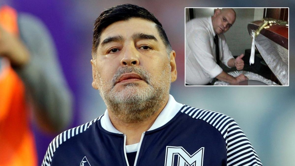 Skandal! Maradona'nın tabutunu açıp fotoğraf çektiler!