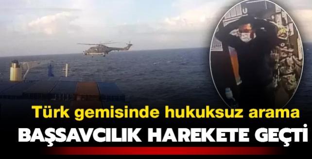 Türk ticaret gemisi Roseline-A'da hukuk dışı arama... Başsavcılık resen soruşturma başlattı