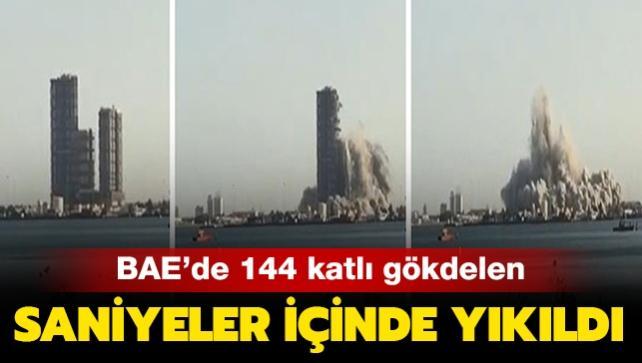 144 katlı gökdelen patlayıcılarla yıkıldı