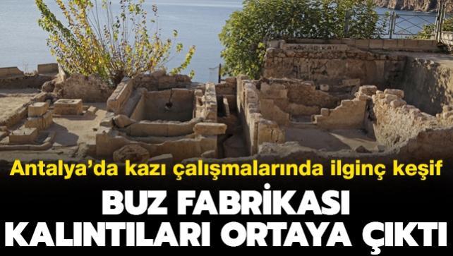 Antalya'da kazı çalışmalarında ilginç keşif: Buz fabrikası kalıntıları ortaya çıktı