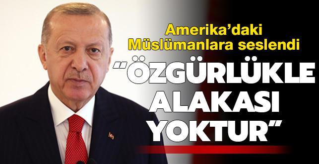 Başkan Erdoğan: İnsanların kutsallarını aşağılamanın özgürlükle alakası yoktur