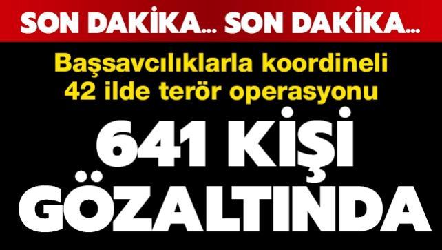 Başsavcılıklarla koordineli operasyon:  641 kişi gözaltına alındı