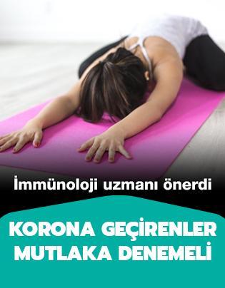 İmmünoloji uzmanından korona geçirenlere yoga önerisi