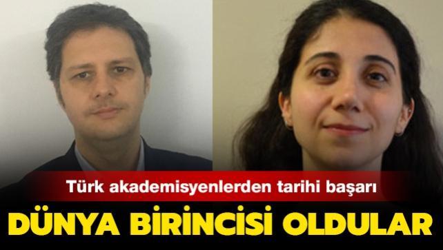Tarihte bir ilk! Türk akademisyenlerin araştırması dünya birincisi seçildi