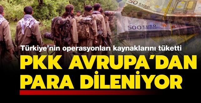 Terör örgütü PKK'nın kaynakları tükeniyor... Koronavirüs bahanesiyle Avrupa'dan para dileniyor