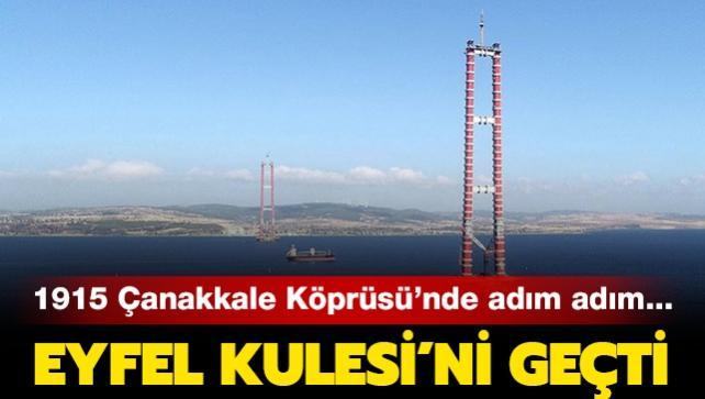 1915 Çanakkale Köprüsü'nde adım adım... Yüksekliği Eyfel Kulesi'ni geçti