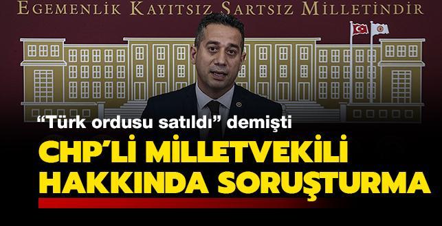 CHP Milletvekili Başarır hakkında soruşturma