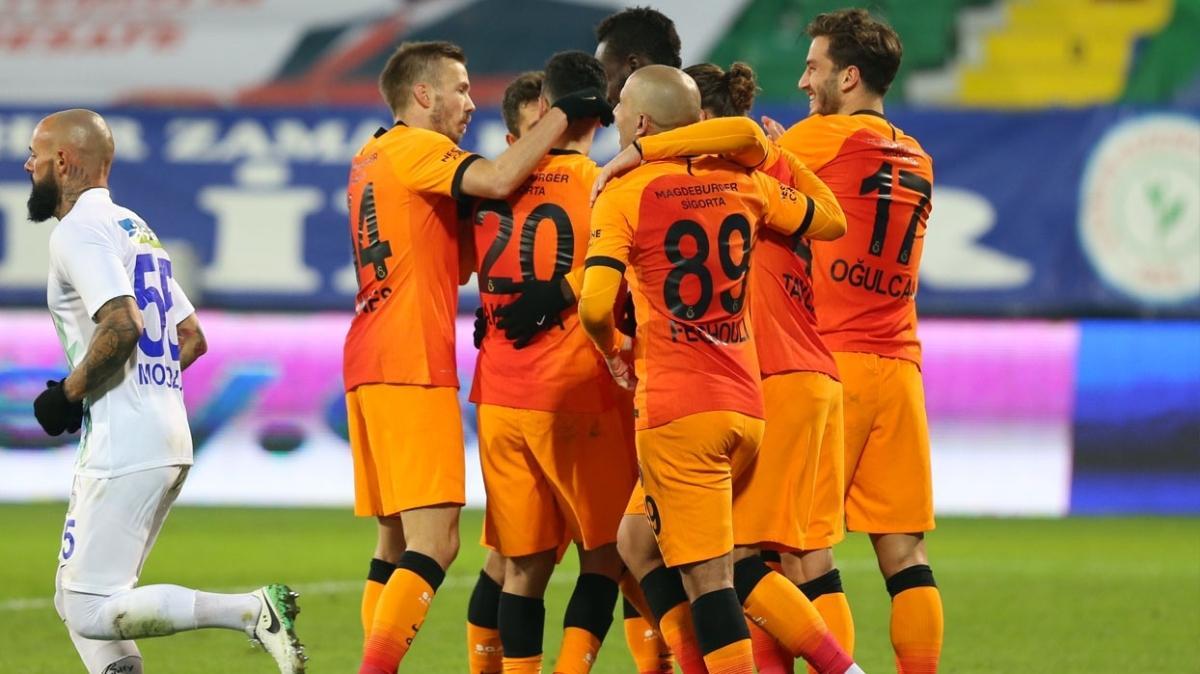 Galatasaray'da oynanan futbol tabelaya yansıdı