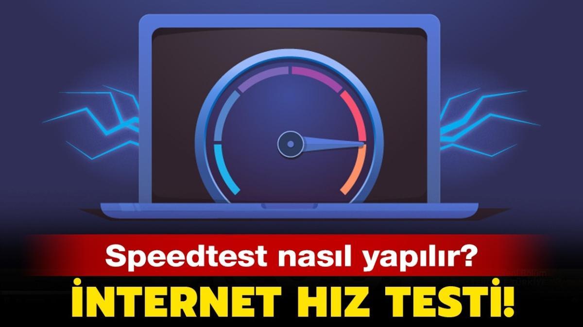 """İnternet neden yavaş"""" İnternet hız testi!"""