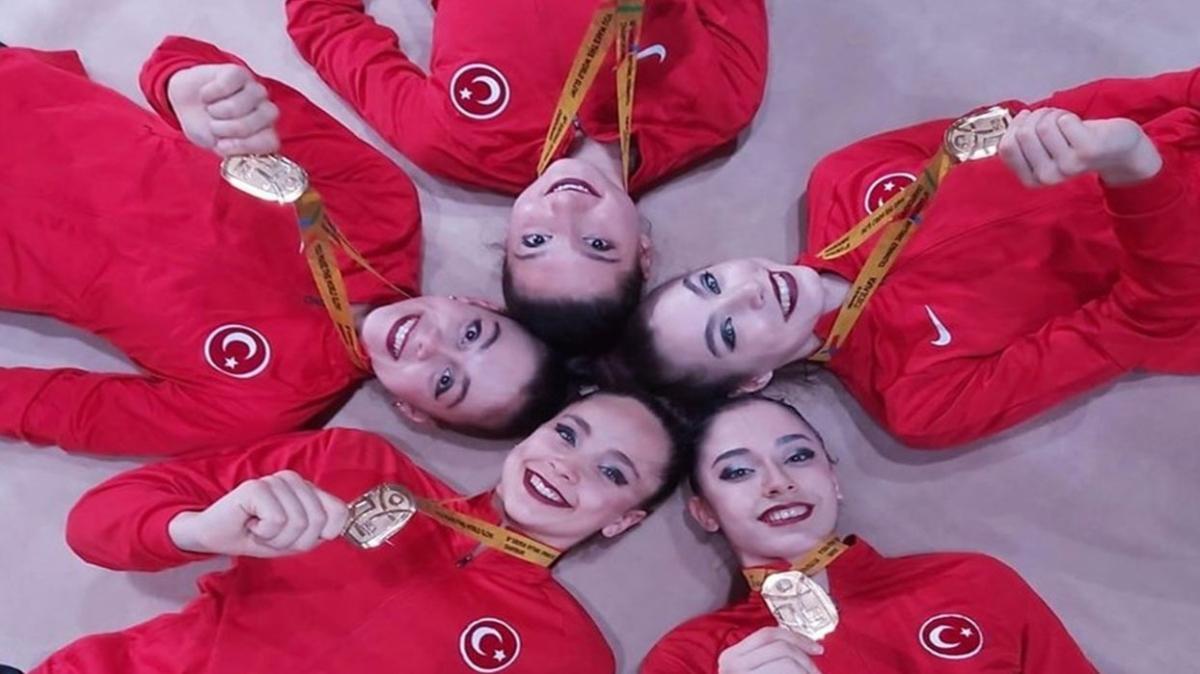 Kadın Ritmik Cimnastik Milli Takımı şampiyon oldu! İşte Ritmik Cimnastik Milli Takımı...