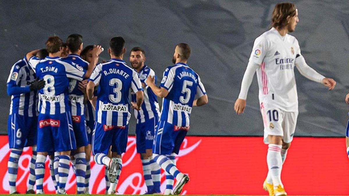 Real Madrid'e sahasında Alaves şoku