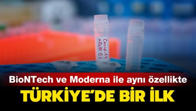 Türkiye'de bir ilk: Bu aşı BioNTech ve Moderna ile aynı özellikte