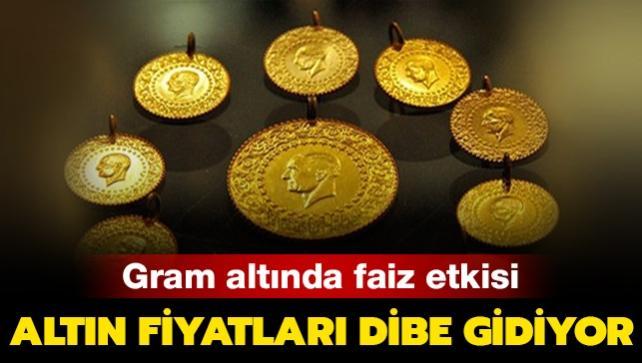 Altın fiyatları düşmeye devam ediyor!