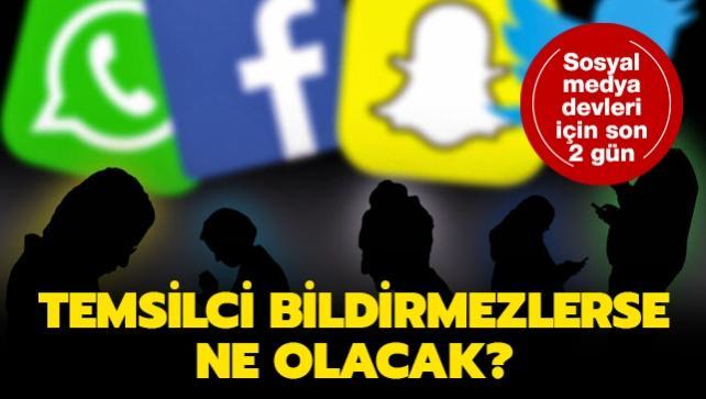 Sosyal medya devleri için son 2 gün... 2 Aralık'ta temsilci bildirmezlerse ne olacak?