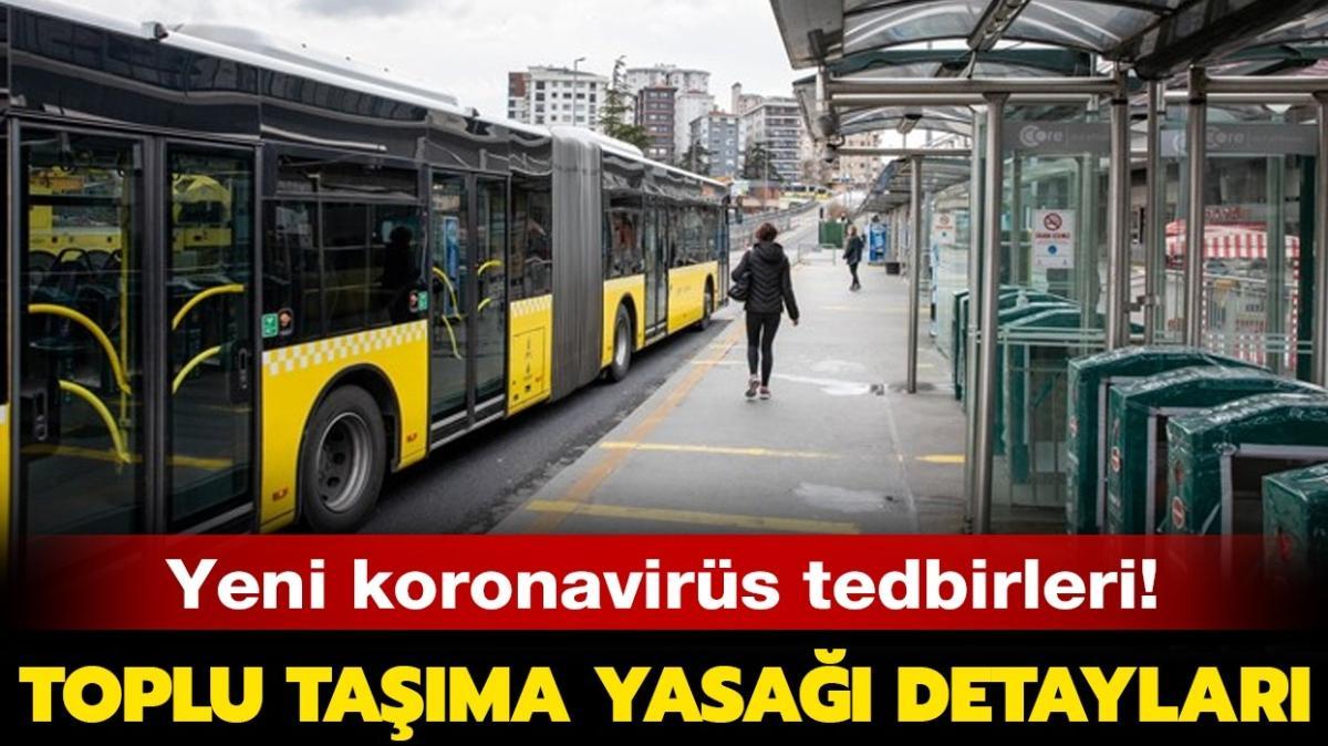 """Toplu taşıma kimlere yasak"""""""
