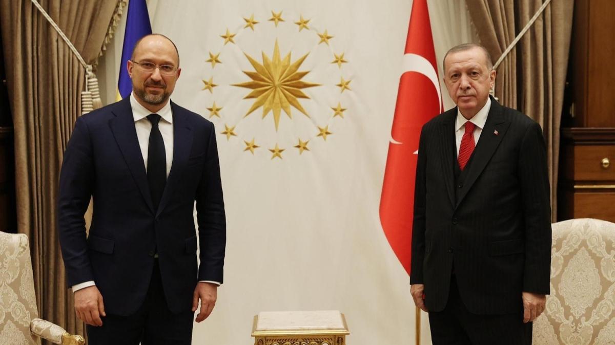 Başkan Erdoğan, Ukrayna Başbakanı Shmyhal'ı kabul etti