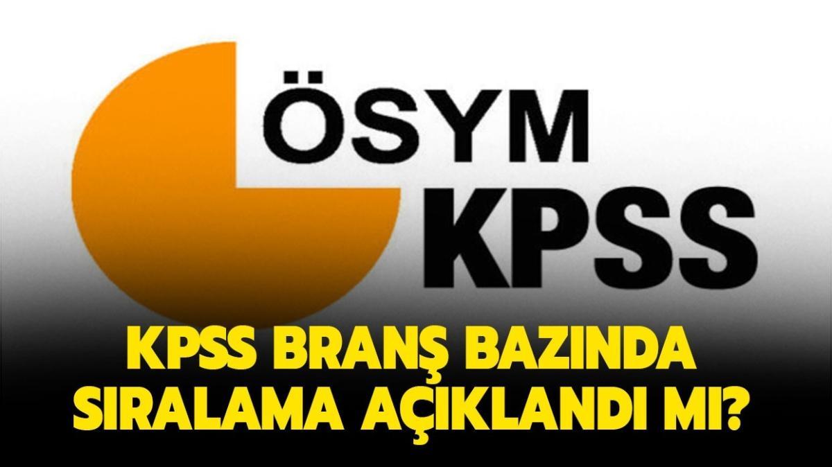 """KPSS önlisans branş bazında sıralama nasıl öğrenilir, ne işe yarar"""" KPSS branş bazında sıralama açıklandı!"""
