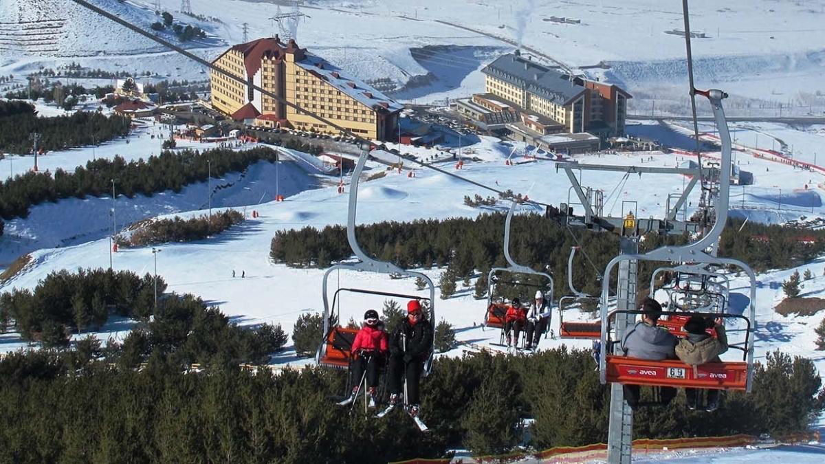 Rus ve Ukraynalı turistlerin rotası bu kez farklı: Kayak turizmi için hareket geçildi