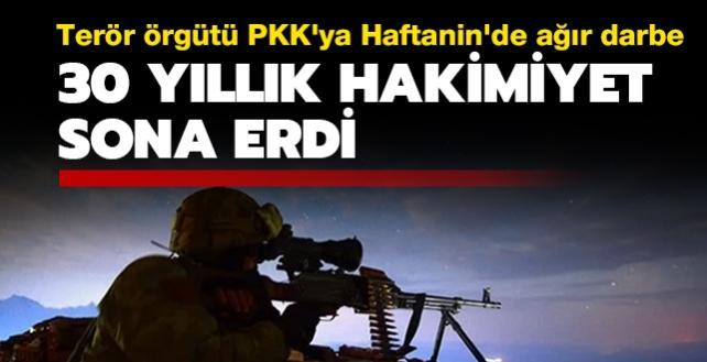 Terör örgütü PKK'ya Haftanin'de ağır darbe: 30 yıllık hakimiyeti sona erdi