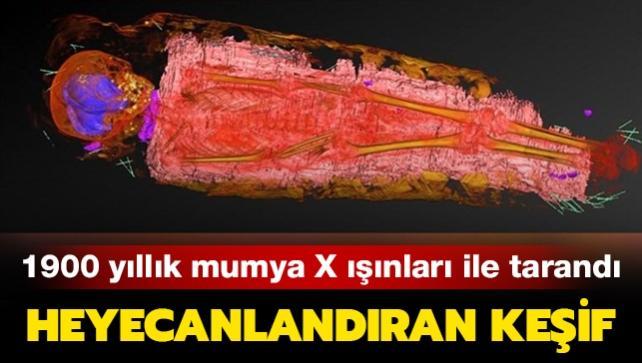 X ışınıyla taranan Antik Mısır mumyasından çıkanlar şaşırttı