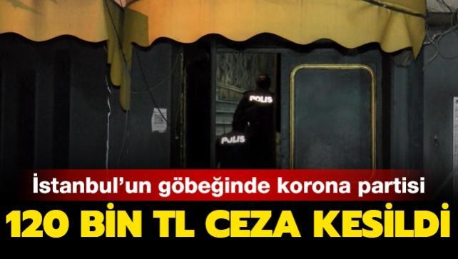 İstanbul'un göbeğinde korona partisi: 120 lira ceza kesildi