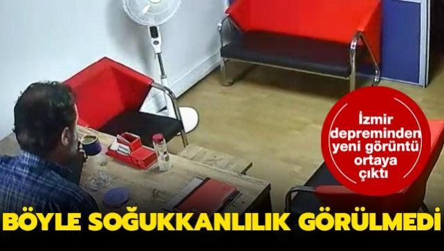 İzmir depreminden yeni görüntü! Böyle soğukkanlılık görülmedi