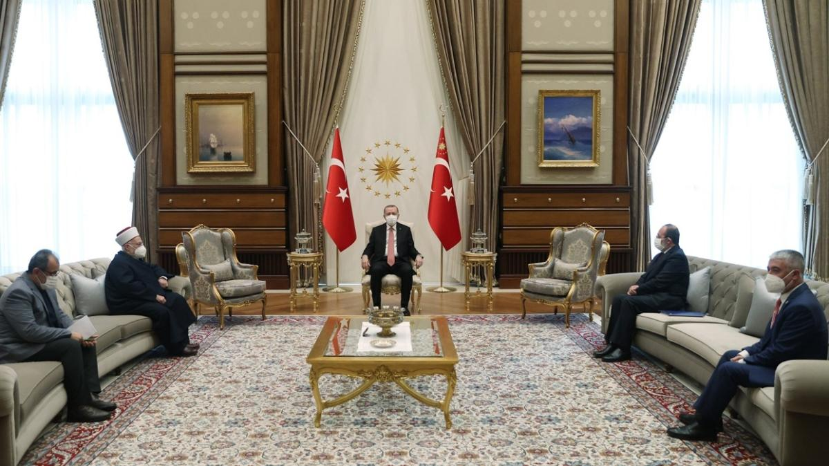 Başkan Erdoğan Mescid-i Aksa imamını kabul etti