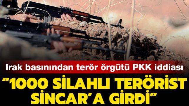Terör örgütü PKK'ya bağlı 1000 teröristin Sincar'a girdiği iddia edildi