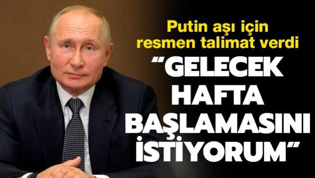 Putin resmen talimat verdi: Rusya'da toplu aşılama haftaya başlıyor