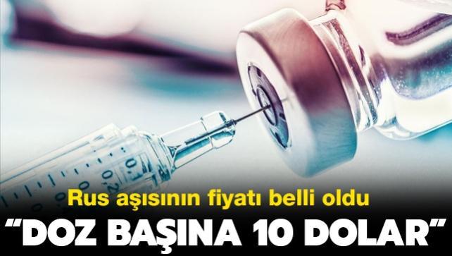 Rus aşısının fiyatı belli oldu