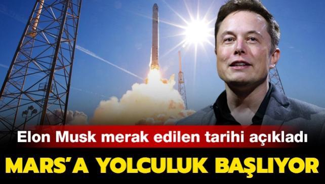 SpaceX'in kurucusu Elon Musk Mars'a yolculuk için tarih verdi
