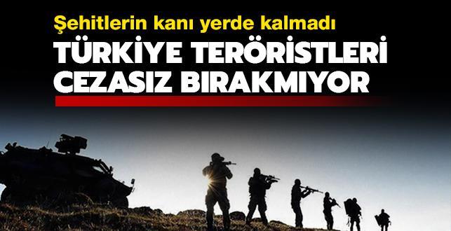 Türkiye, yıllar geçse de teröristleri cezasız bırakmıyor