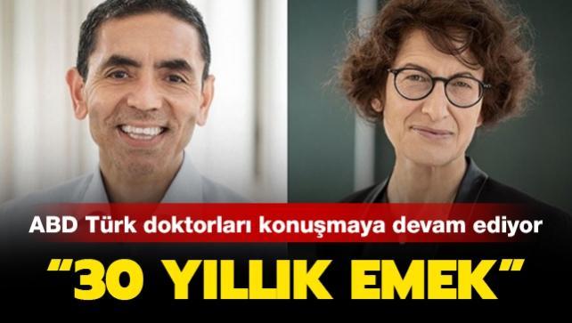 ABD, koronavirüs aşısını bulan Türk doktorlar Uğur Şahin ve eşi Özlem Türeci'yi konuşmaya devam ediyor