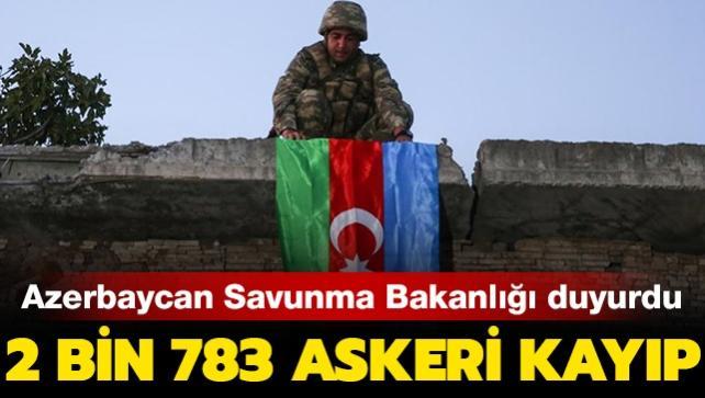 Azerbaycan Savunma Bakanlığı'ndan son dakika  Dağlık Karabağ açıklaması