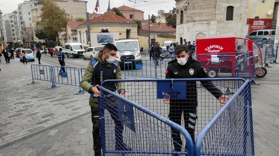 İstiklal Caddesi'nde yeni dönem: 7 bin kişi kısıtlaması başladı