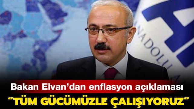 Hazine ve Maliye Bakanı Elvan'dan enflasyon açıklaması: 'Tüm gücümüzle çalışıyoruz'