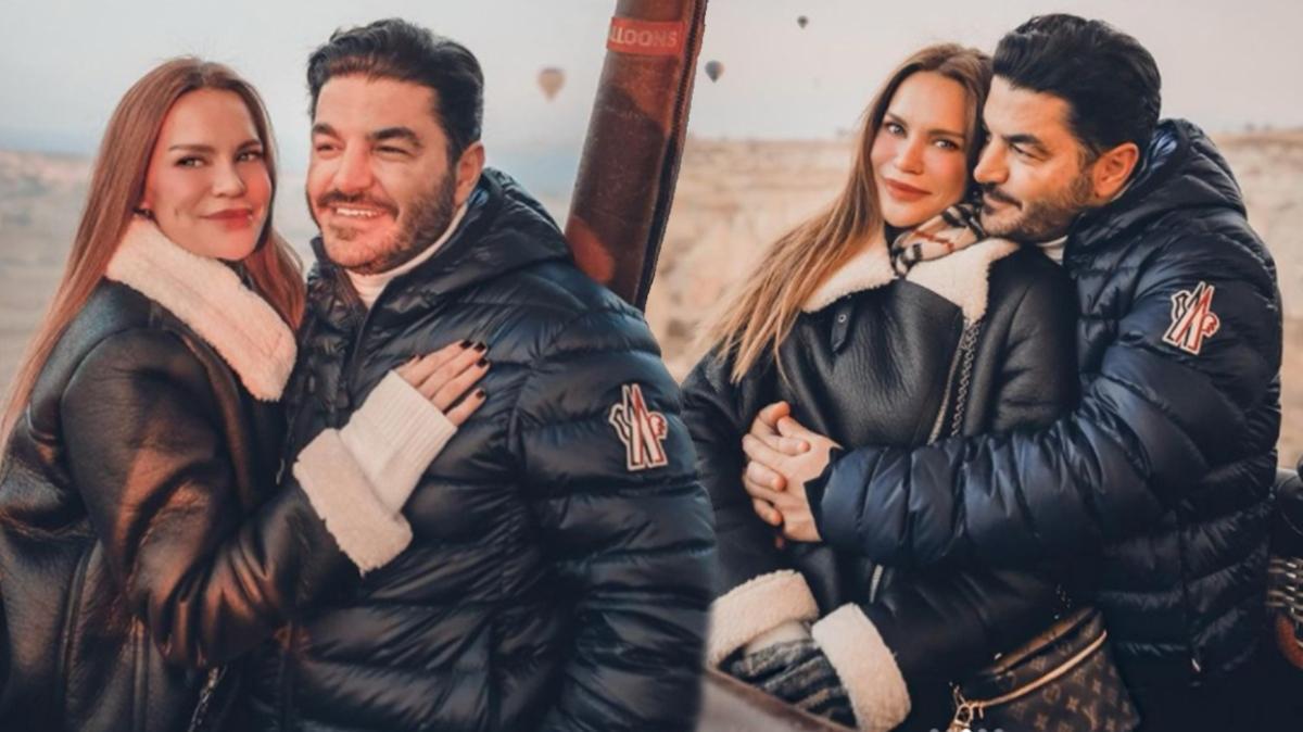 Ebru Şallı ve Uğur Akkuş'dan Kapadokya'da romantik tatil