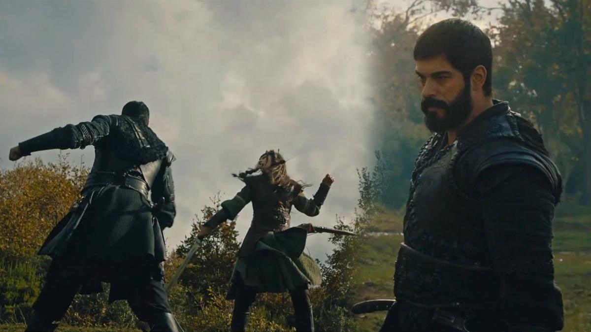 Kuruluş Osman'da Osman Bey ile Targan Hatun'un kılıç düellosu nefes kesti!