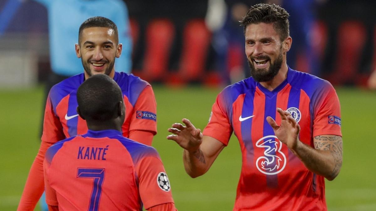 Sevilla-Chelsea maçı geceye damga vurdu! Giroud'nun gecesi