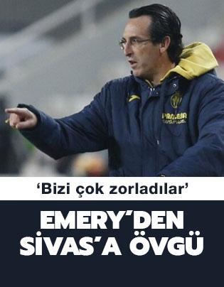 Emery: 'Sivasspor bizi çok zorladı'