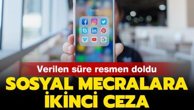 Verilen süre resmen doldu... Facebook, Instagram ve Twitter'a ikinci ceza