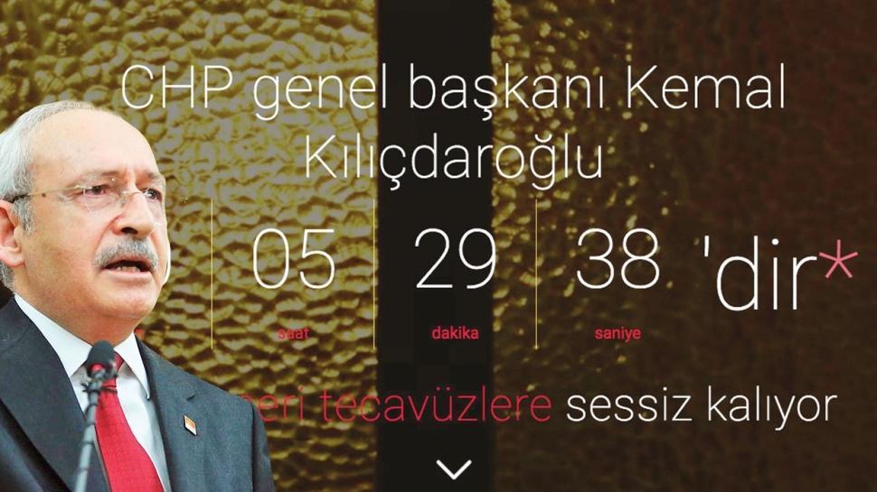 Kılıçdaroğlu için 'tecavüze sessiz kalıyor' sitesi açıldı