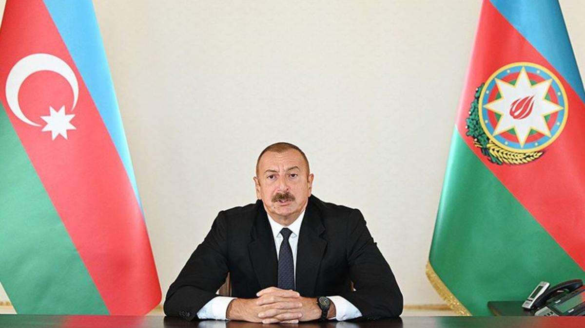 """Aliyev: """"Saldırgan devlet barış yapmak zorunda kaldı"""""""